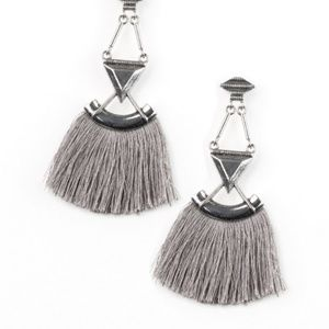 Silver earrings paparazzi